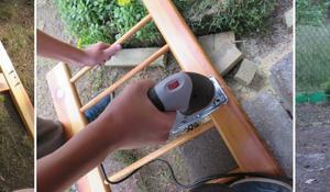 KROK II - Przycinanie elementów do rozmiarów ławki